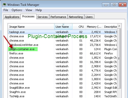Firefox - plugin container.exe